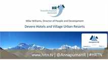 Mike Williams, Devere Hotels and Village Urban Resorts, 'People Plan'