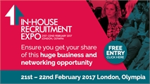In House Recruitment Expo 2017:  21 – 22 February  Olympia, London.